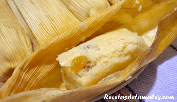 tamales canario con queso