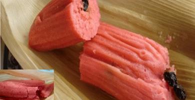 receta de tamales de fresa con leche