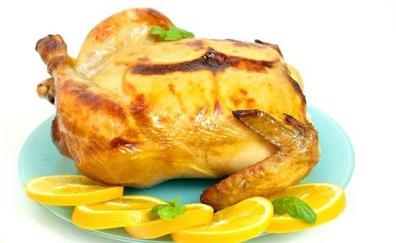 Pollo festivo con naranjas (al horno)