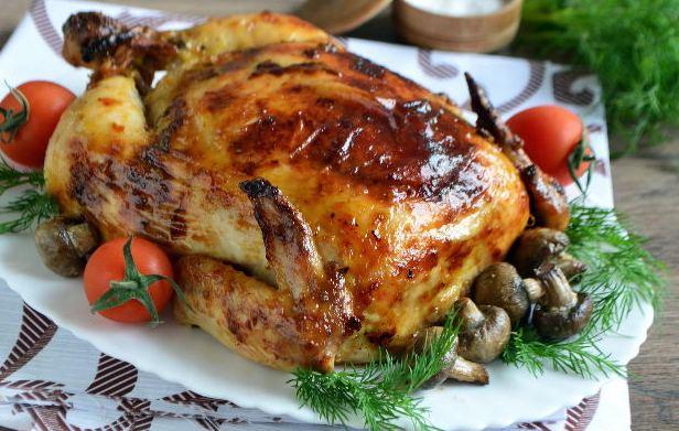 Pollo relleno de alforfón y champiñones