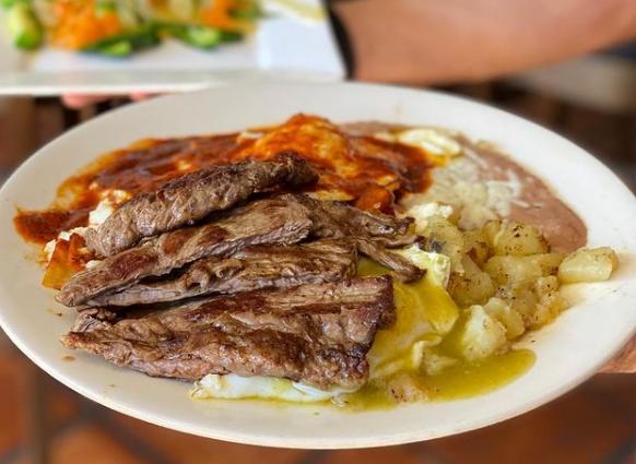 Bistec mexicano con verduras